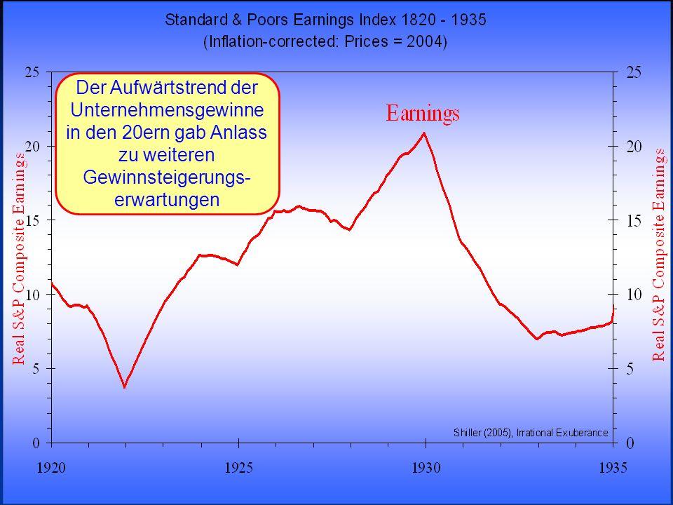 © RAINER MAURER, Pforzheim - 30 - Prof. Dr. Rainer Maure Der Aufwärtstrend der Unternehmensgewinne in den 20ern gab Anlass zu weiteren Gewinnsteigerun