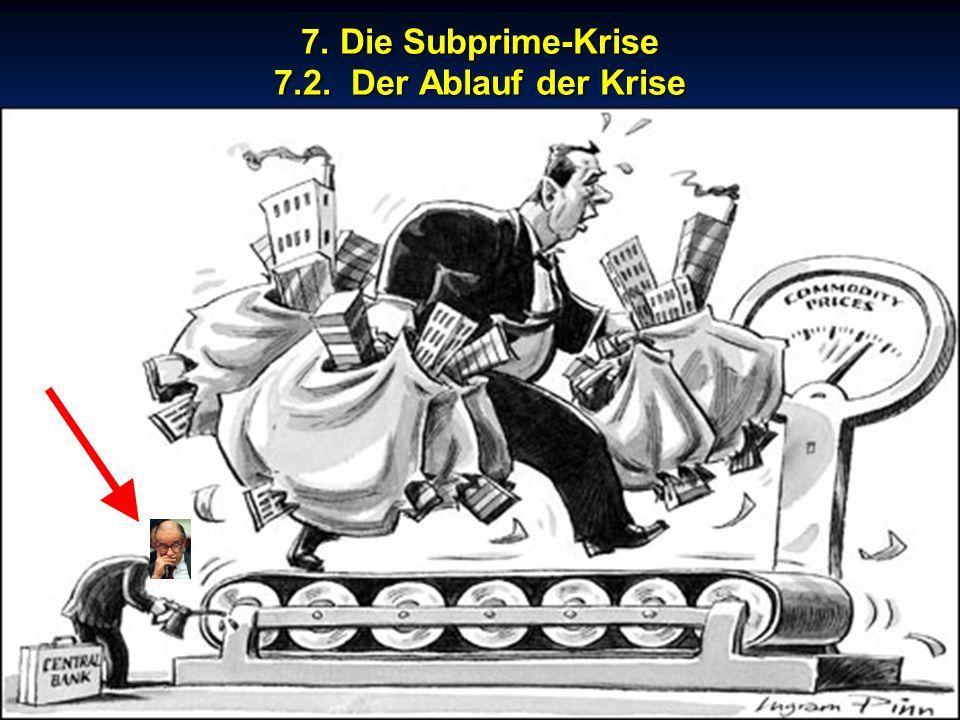 © RAINER MAURER, Pforzheim 7. Die Subprime-Krise 7.2. Der Ablauf der Krise - 64 - Prof. Dr. Rainer Maure