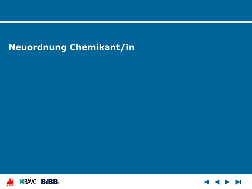 Neuordnung Chemikant/in