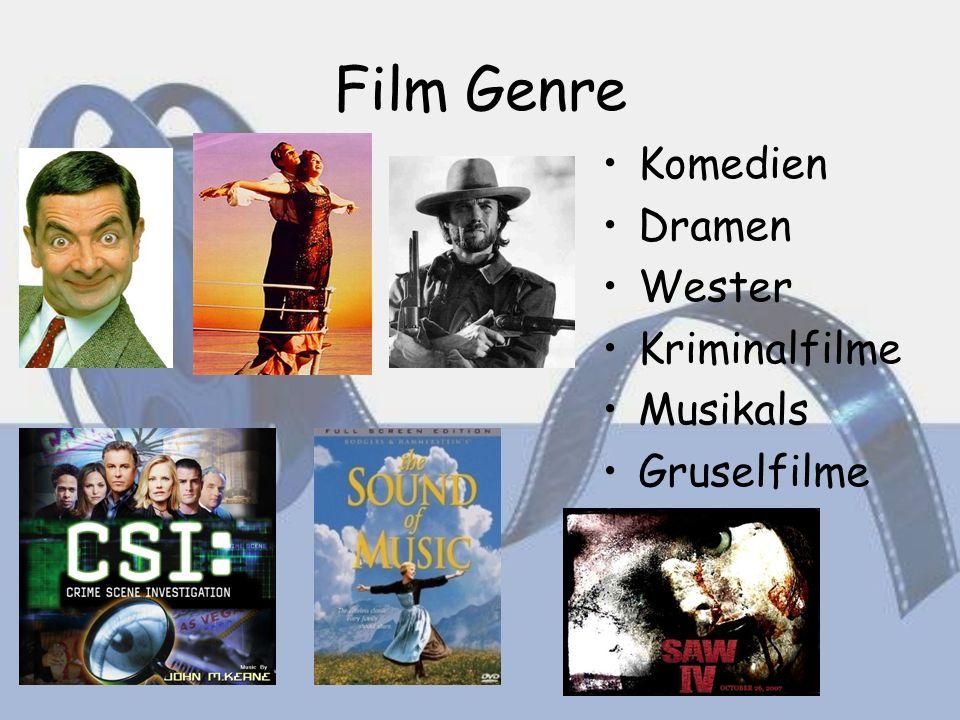 Film Genre Komedien Dramen Wester Kriminalfilme Musikals Gruselfilme