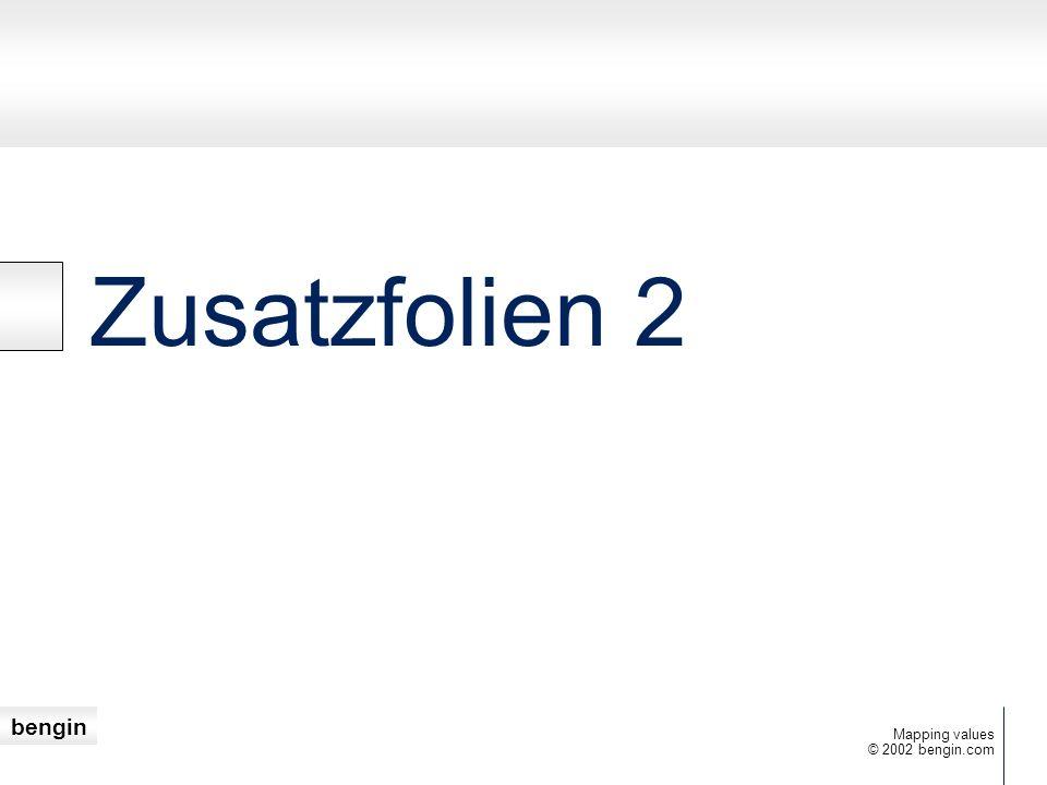 bengin © 2002 bengin.com Mapping values Zusatzfolien 2