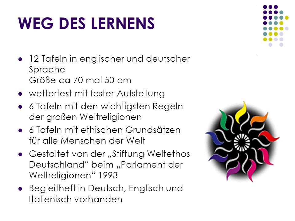WEITERFÜHRENDE LINKS www.kirchen.at www.wik-vernetzungsbuero.at www.kirchen.atwww.wik-vernetzungsbuero.at www.weltethos.at www.weltethos.org www.weltethos.atwww.weltethos.org www.bildung-frieden.net www.ziegler-duregger.com www.bildung-frieden.netwww.ziegler-duregger.com www.weltbuero.at www.clubosttirol.at www.weltbuero.atwww.clubosttirol.at www.kleine-eule.net www.unesco.at (UNO Dekade Bildung für nachhaltige Entwicklung) www.unesco.at www.interculturaldialogue2008.eu Europäisches Jahr des Interkulturellen Dialogs 2008 www.interculturaldialogue2008.eu www.parliamentofreligions.org (Parlament der Weltreligionen) www.parliamentofreligions.org http://religion.orf.at Links zu den Religionen http://religion.orf.at