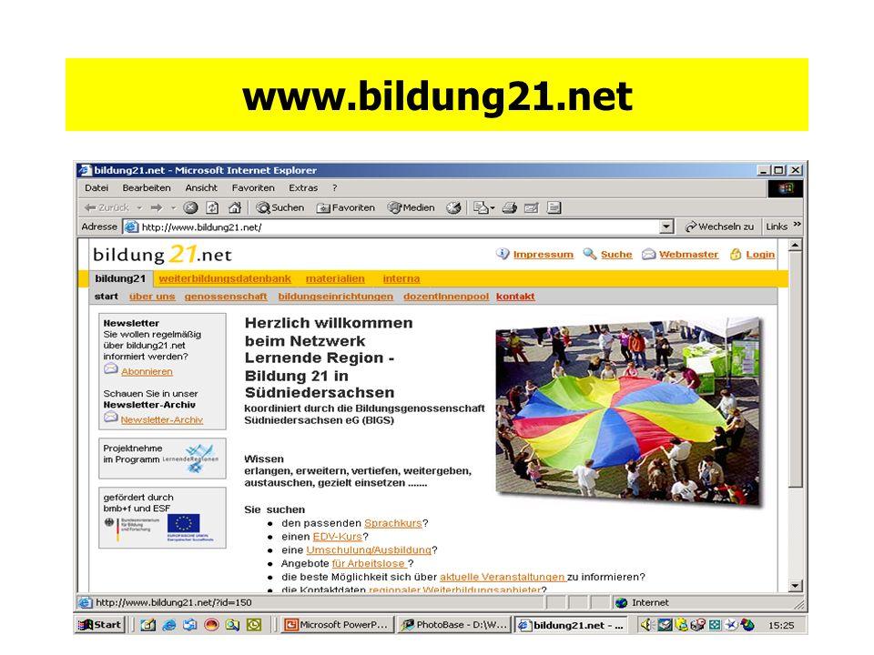 gefördert durch bmb+f und ESF www.bildung21.net