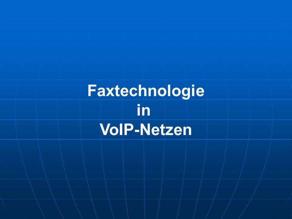 Faxtechnologie in VoIP-Netzen