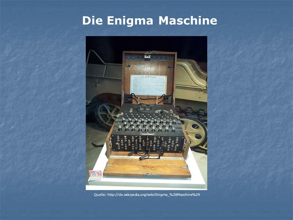 Die Enigma Maschine Quelle: http://de.wikipedia.org/wiki/Enigma_%28Maschine%29