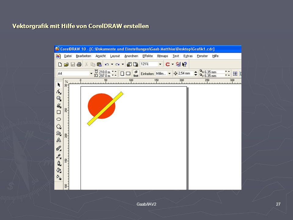 Gaab/IAV227 Vektorgrafik mit Hilfe von CorelDRAW erstellen