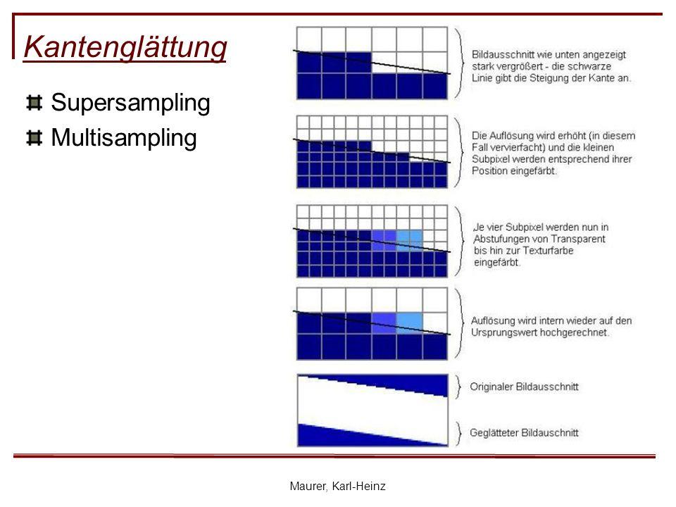 Maurer, Karl-Heinz Kantenglättung Supersampling Multisampling