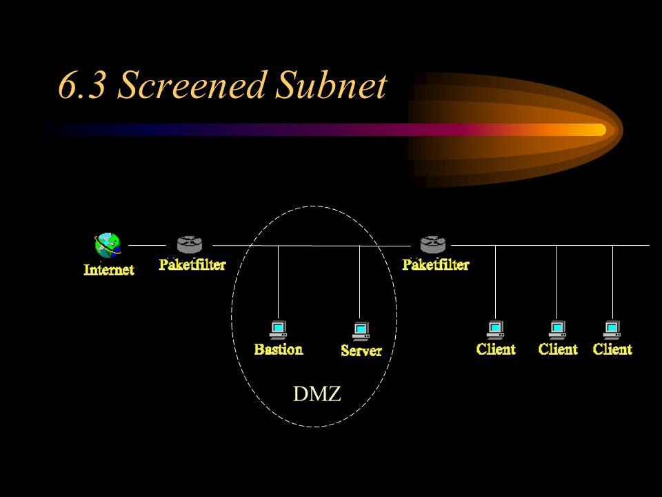 6.3 Screened Subnet DMZ