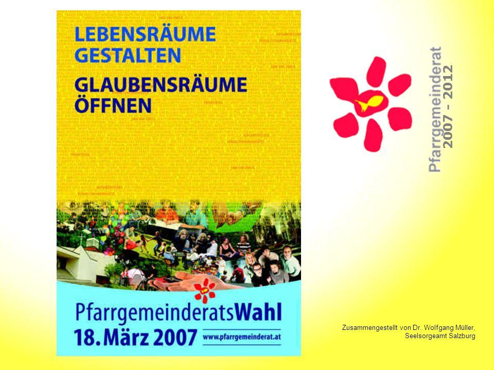 Lebensräume gestalten Glaubensräume öffnen 2007 - 2012 Einführung und Unterstützung PGR-Ordner (Informationsblätter!) kontakt (auch für Ersatzmitglieder) Einführungstreffen: 11.