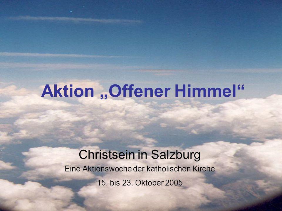 Pfarren öffnen den Himmel Auftaktveranstaltung SalzBurgLicht (Samstag 15.