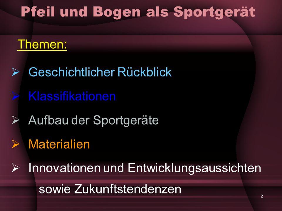 33 Aufbau der Sportgeräte Mittelstück: Video: Centershot- Mittelstück (Compoundbögen) (Länge: 0:24) Video: Mittelstücktechnologie von Compoundbögen (Länge: 1:14)