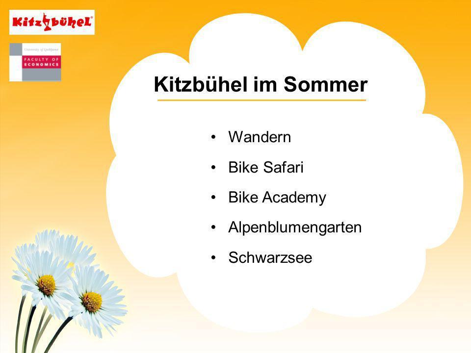 Kitzbühel im Sommer Wandern Bike Safari Bike Academy Alpenblumengarten Schwarzsee