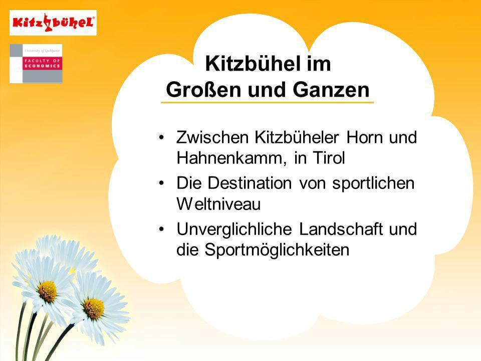 Kitzbühel im Großen und Ganzen Zwischen Kitzbüheler Horn und Hahnenkamm, in Tirol Die Destination von sportlichen Weltniveau Unverglichliche Landschaft und die Sportmöglichkeiten
