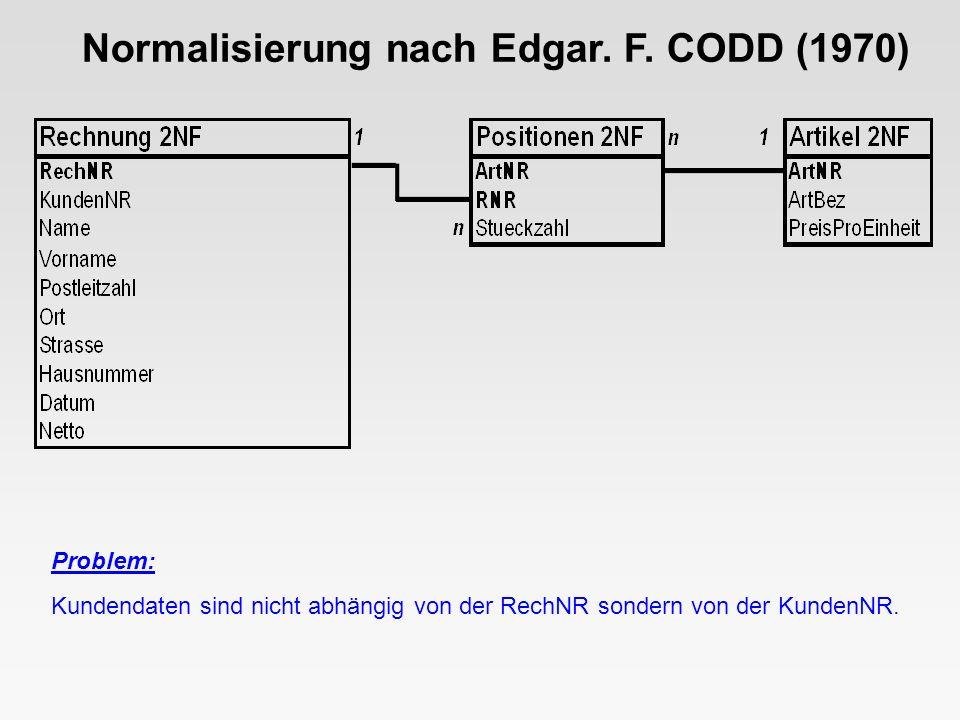 Normalisierung nach Edgar.F.
