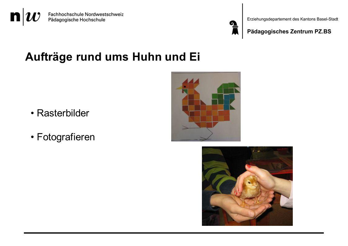 Aufträge rund ums Huhn und Ei Rasterbilder Fotografieren