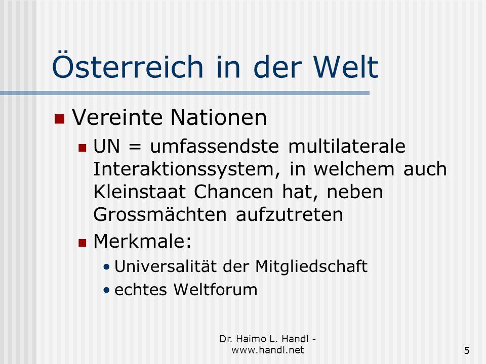 Dr.Haimo L. Handl - www.handl.net6 Österreich in der Welt Entwicklungsfasen int.