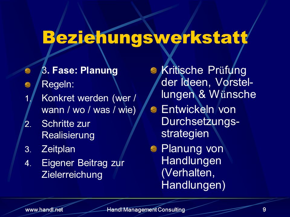 Management Consulting9 Beziehungswerkstatt 3.