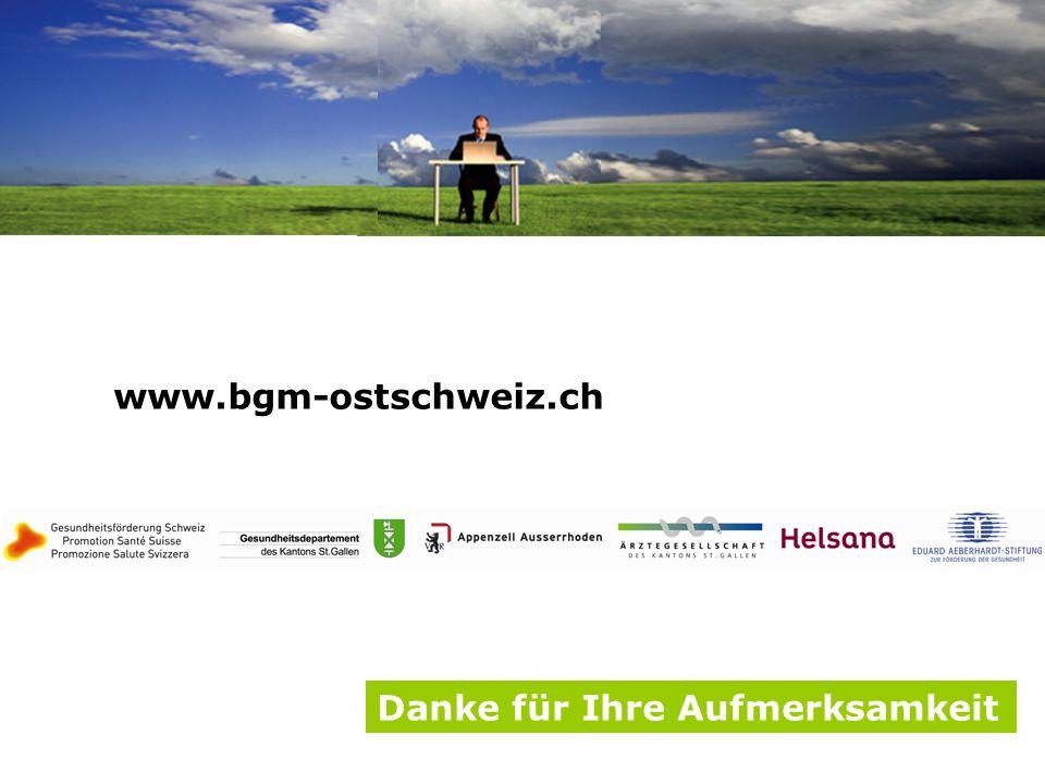 www.bgm-ostschweiz.ch Danke für Ihre Aufmerksamkeit