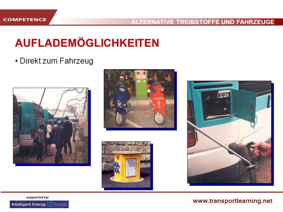 ALTERNATIVE TREIBSTOFFE UND FAHRZEUGE www.transportlearning.net AUFLADEMÖGLICHKEITEN Direkt zum Fahrzeug