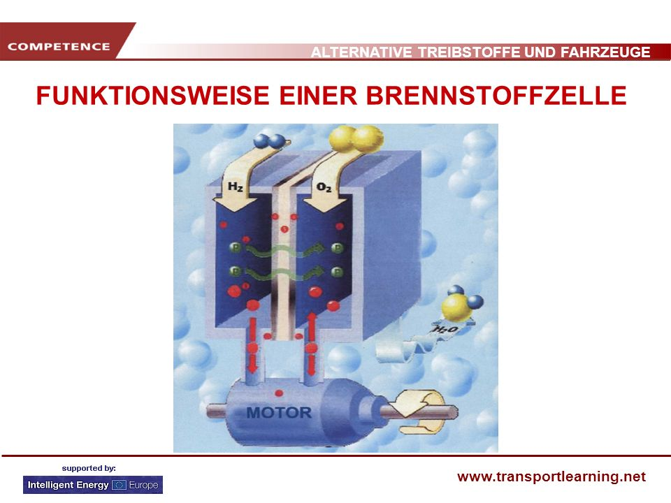 ALTERNATIVE TREIBSTOFFE UND FAHRZEUGE www.transportlearning.net FUNKTIONSWEISE EINER BRENNSTOFFZELLE Exhaust