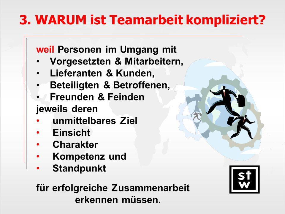 3.WARUM ist Teamarbeit kompliziert.