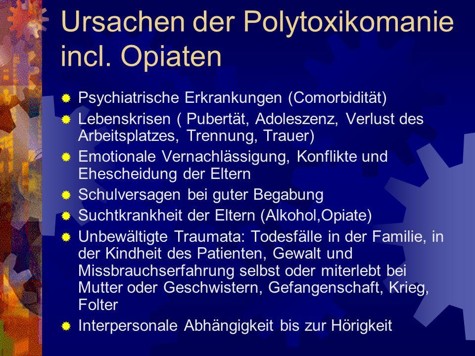 Ursachen der Polytoxikomanie incl.