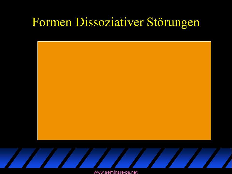 www.seminare-ps.net Formen Dissoziativer Störungen