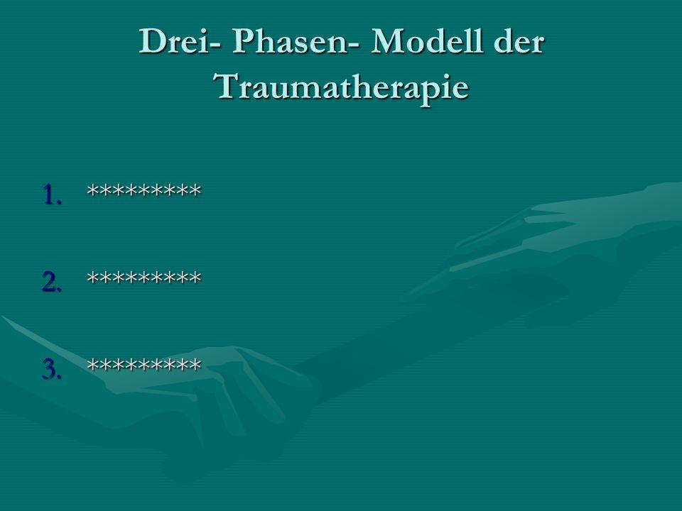 Drei- Phasen- Modell der Traumatherapie 1.********* 2.********* 3.*********