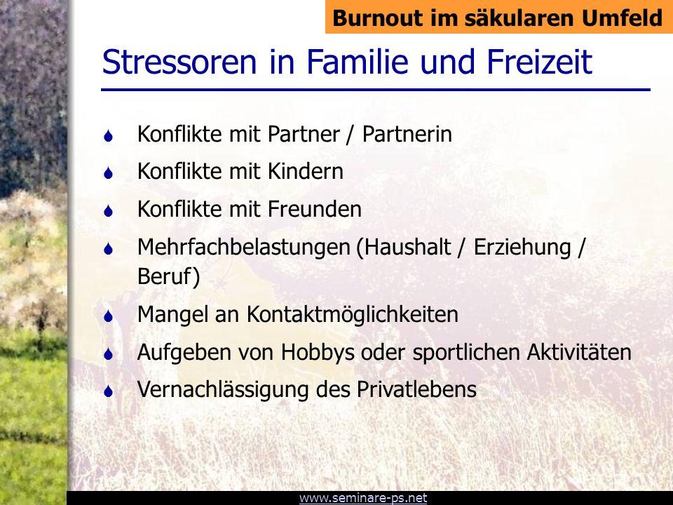 www.seminare-ps.net Stress Aktivierung des vegetativen Systems Verstand und Willenskraft können die Stressreaktion nicht mehr verhindern.