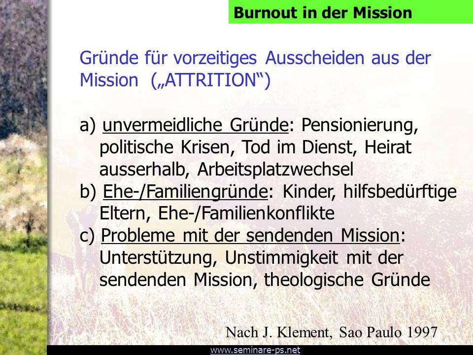 www.seminare-ps.net Mehr Anstrengung bringt nicht mehr Burnout- Gefahr.