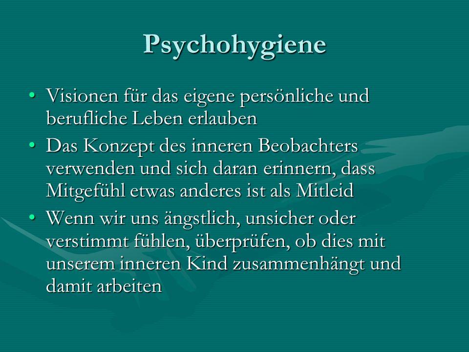 Psychohygiene Visionen für das eigene persönliche und berufliche Leben erlaubenVisionen für das eigene persönliche und berufliche Leben erlauben Das K
