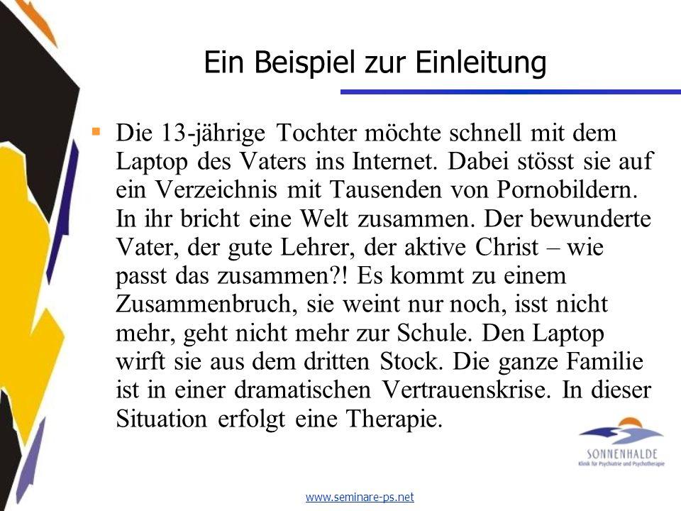 www.seminare-ps.net Ein Beispiel zur Einleitung Die 13-jährige Tochter möchte schnell mit dem Laptop des Vaters ins Internet.