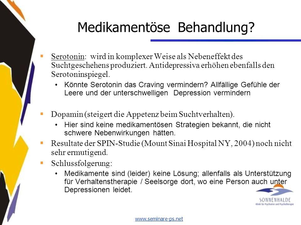 www.seminare-ps.net Medikamentöse Behandlung.