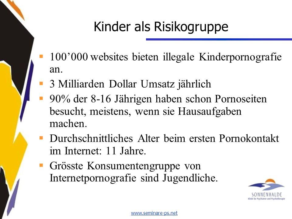 www.seminare-ps.net Kinder als Risikogruppe 100000 websites bieten illegale Kinderpornografie an.
