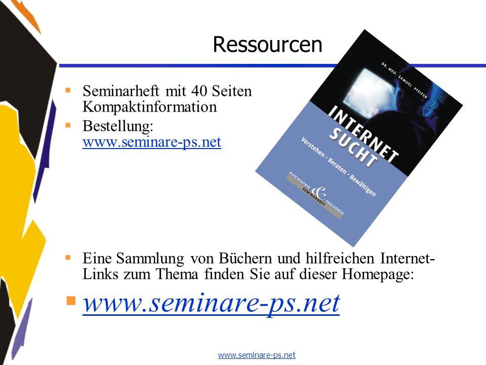 www.seminare-ps.net Ressourcen Seminarheft mit 40 Seiten Kompaktinformation Bestellung: www.seminare-ps.net www.seminare-ps.net Eine Sammlung von Büch