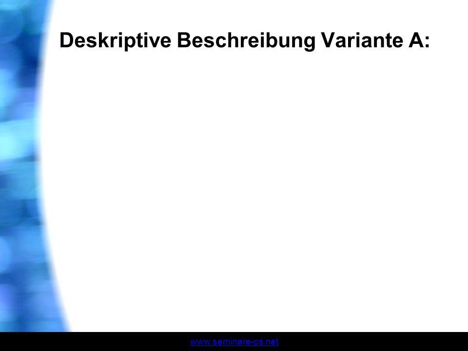 www.seminare-ps.net Deskriptive Beschreibung Variante A: