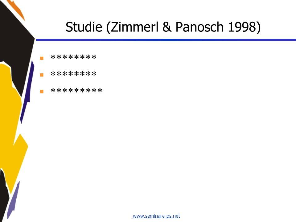 www.seminare-ps.net Studie (Zimmerl & Panosch 1998) ******** *********