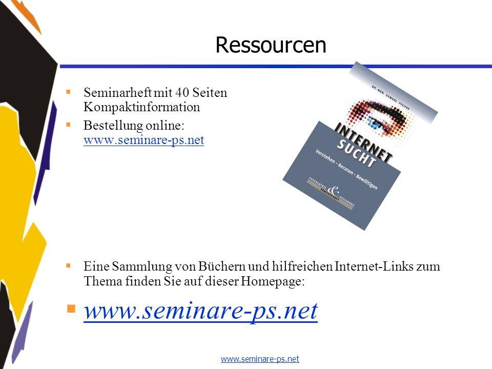 Ressourcen Seminarheft mit 40 Seiten Kompaktinformation Bestellung online: www.seminare-ps.net www.seminare-ps.net Eine Sammlung von Büchern und hilfr