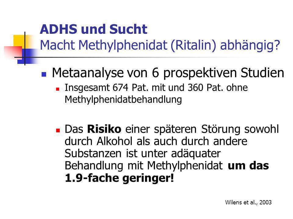 ADHS und Sucht Macht Methylphenidat (Ritalin) abhängig.