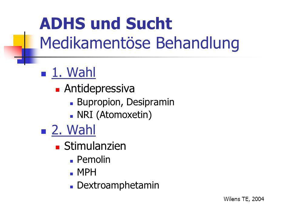 ADHS und Sucht Medikamentöse Behandlung 1.