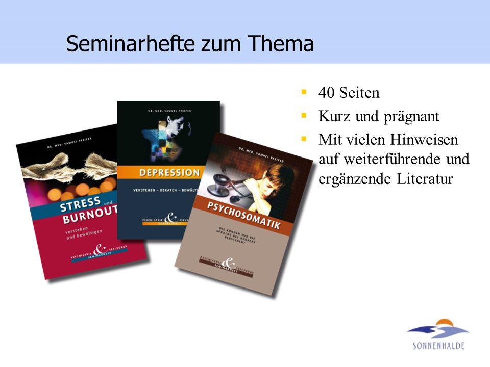 Seminarhefte zum Thema 40 Seiten Kurz und prägnant Mit vielen Hinweisen auf weiterführende und ergänzende Literatur