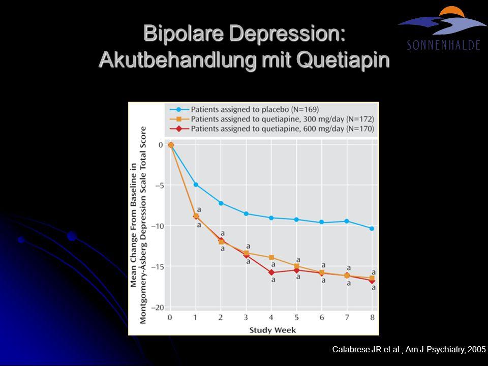 Bipolare Depression: Akutbehandlung mit Quetiapin Calabrese JR et al., Am J Psychiatry, 2005