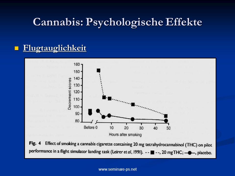 www.seminare-ps.net Cannabis: Psychologische Effekte Flugtauglichkeit Flugtauglichkeit