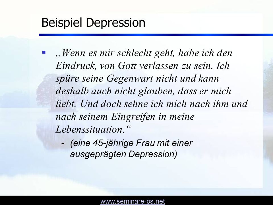 www.seminare-ps.net Beispiel 2 - Website - Gebetsanliegen Mein Name ist Leonhard und ich bin 27 Jahre alt.