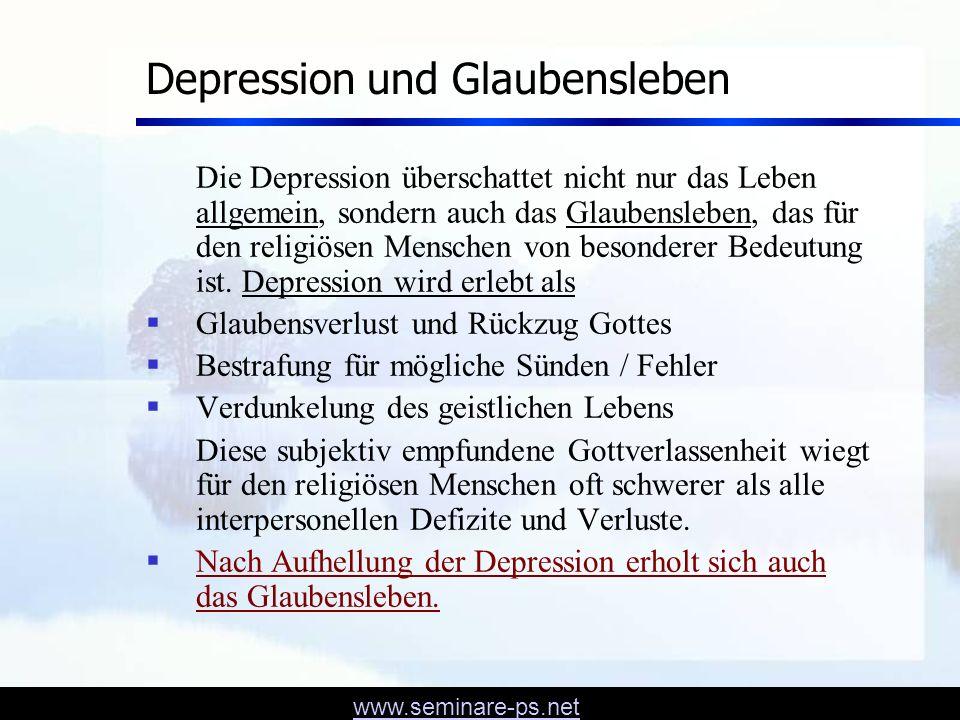 www.seminare-ps.net Therapie der Depression: STRESS DENKEN KÖRPER 4 1 3 2 1 2 3 4 Gespräch prakt.
