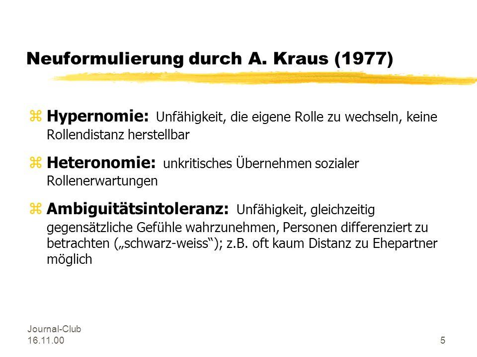 Journal-Club 16.11.004 wichtige Begriffe bei Tellenbach (1961): zWesensmerkmale des melancholischen Typus: zOrdentlichkeit: aktive Seite, Bedürfnis na