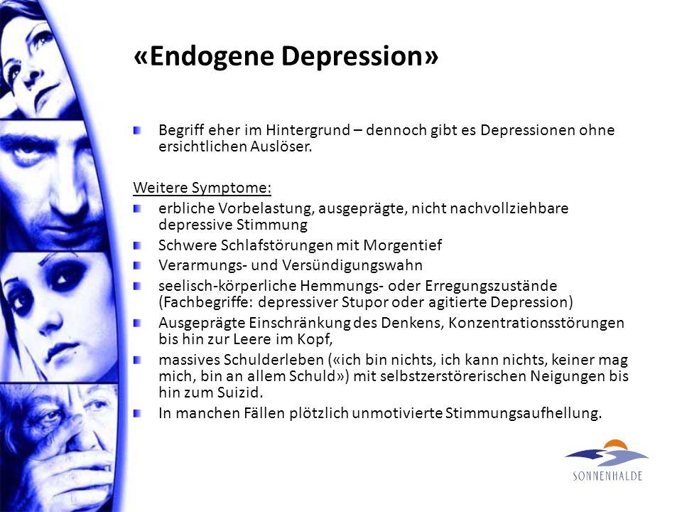 Depressionsverlauf – monopolar Dep Depressive Phasen werden abgelöst von guten Zeiten; aber es gibt zu keiner Zeit ein Hoch.