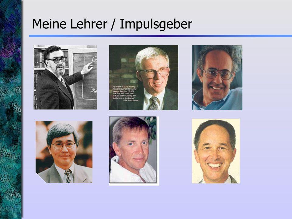 Meine Lehrer / Impulsgeber