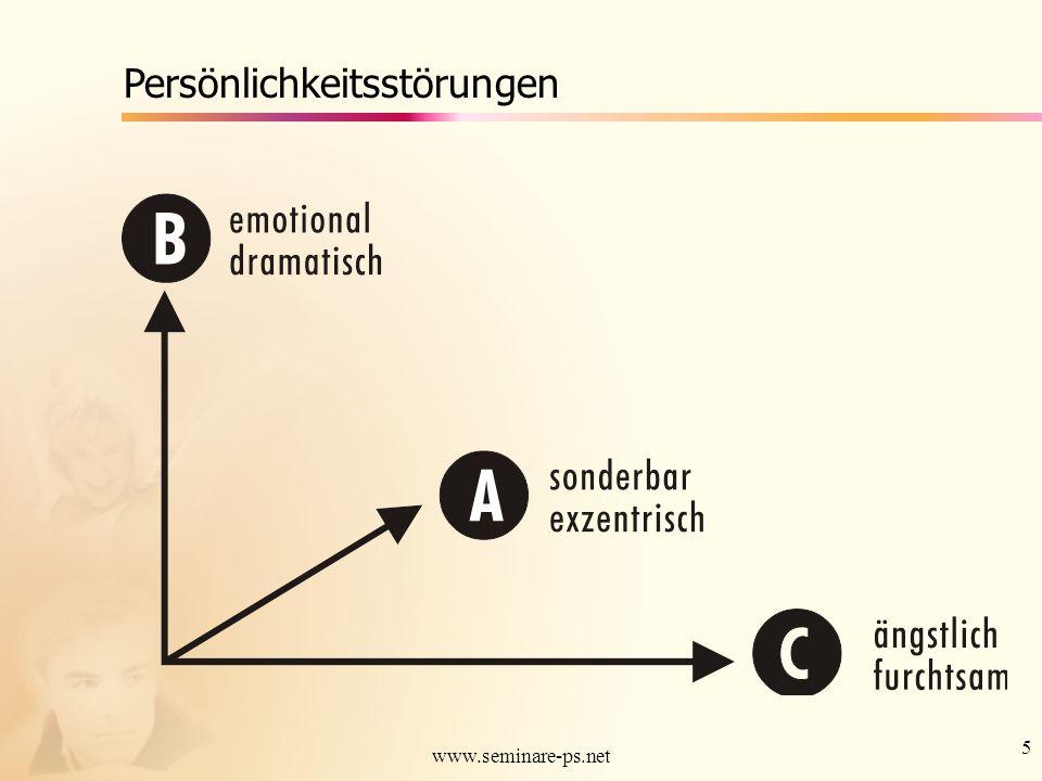 6 www.seminare-ps.net Paranoide Persönlichkeitsstörung Tiefgreifendes Mißtrauen und Argwohn gegenüber anderen, so dass deren Motive als böswillig ausgelegt werden.