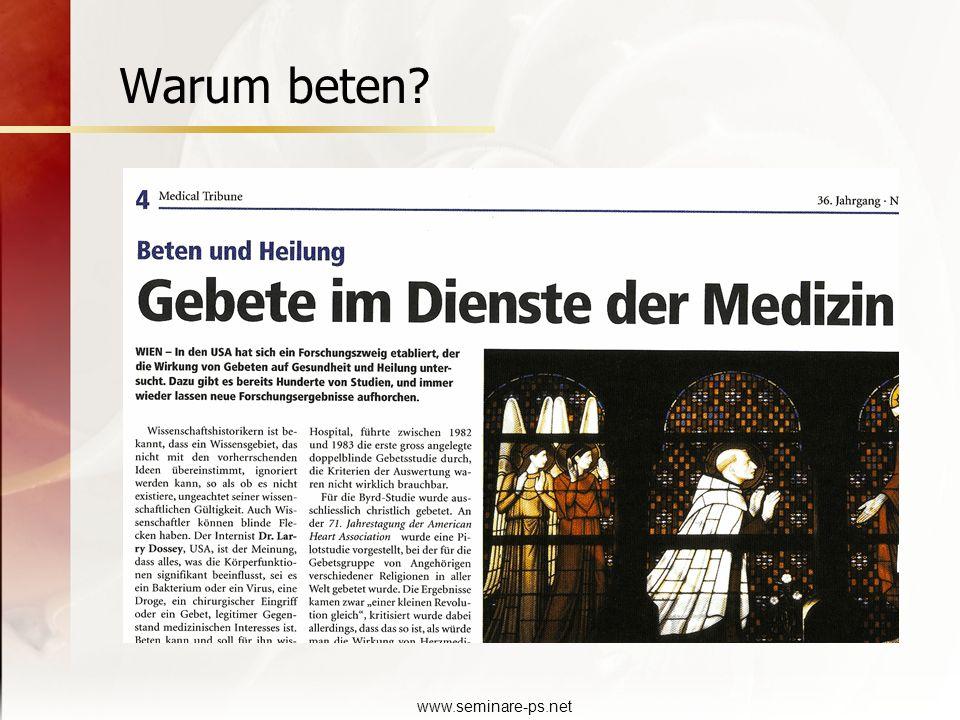 www.seminare-ps.net Warum beten?